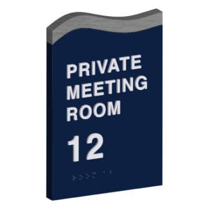 Private Meeting Room Sign for wayfinding and hospitality signs by premier sign company offering top quality hotel signs, building directory signs, and room numbers for hotels.
