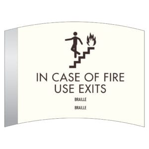 For Sale: In Case of Fire Use Stairs ADA Compliant Signs. A Hotel Fire Safety Door Signage