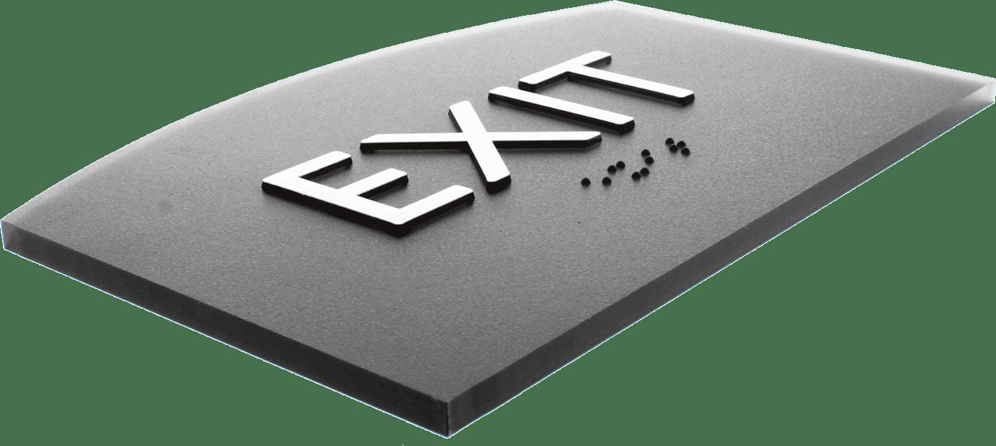 ADA-Compliant Exit Sign