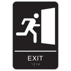 """6"""" x 9"""" ADA Exit Sign"""