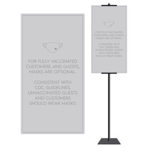 8928GY Covid safety signs: Masks, 6' apart, and please wait. Hotel Signage Guidelines, Retail Store Signs, and Interior Office Signs.