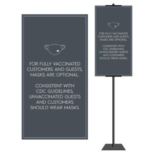 8928SL Covid safety signs: Masks, 6' apart, and please wait. Hotel Signage Guidelines, Retail Store Signs, and Interior Office Signs.