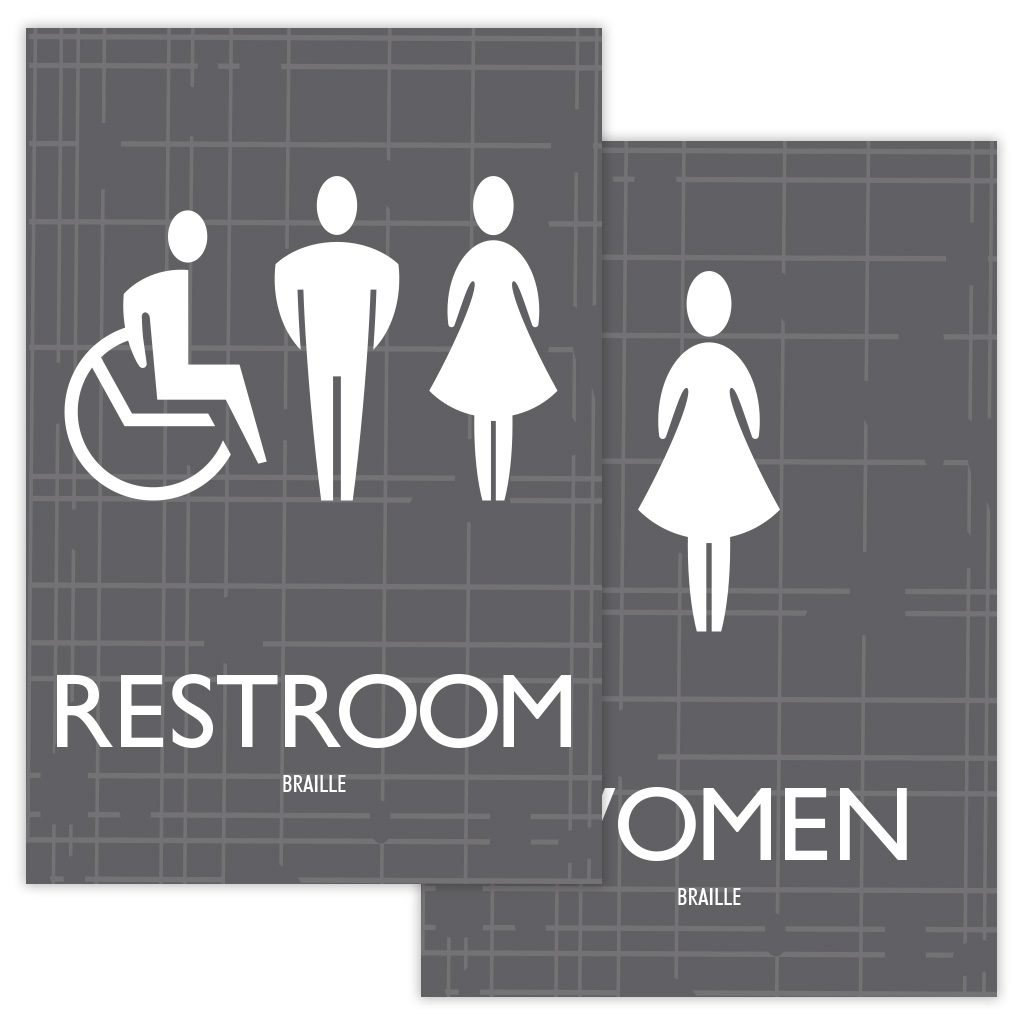 Compliant ADA Signs for ADA Restroom signs, Bathroom signs, by premier sign company