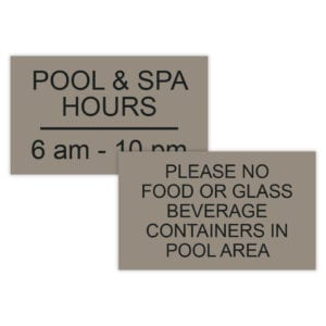 Pool/Spa/Fitness Signs