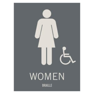 Women Hotel and Retail Restroom Wall Sign, ADA Compliant Room Signs and ADA Restroom Signs for Sale