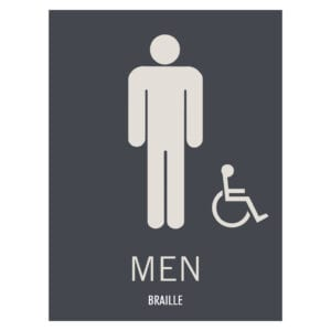 Hyatt Place Men Hotel and Retail Restroom Wall Sign, ADA Compliant Room Signs and ADA Restroom Signs for Sale
