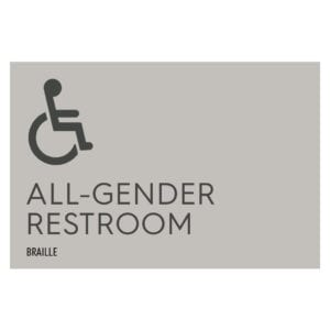 Towne Place All Gender Hotel and Retail Restroom Wall Sign, ADA Compliant Room Signs and ADA Restroom Signs for Sale