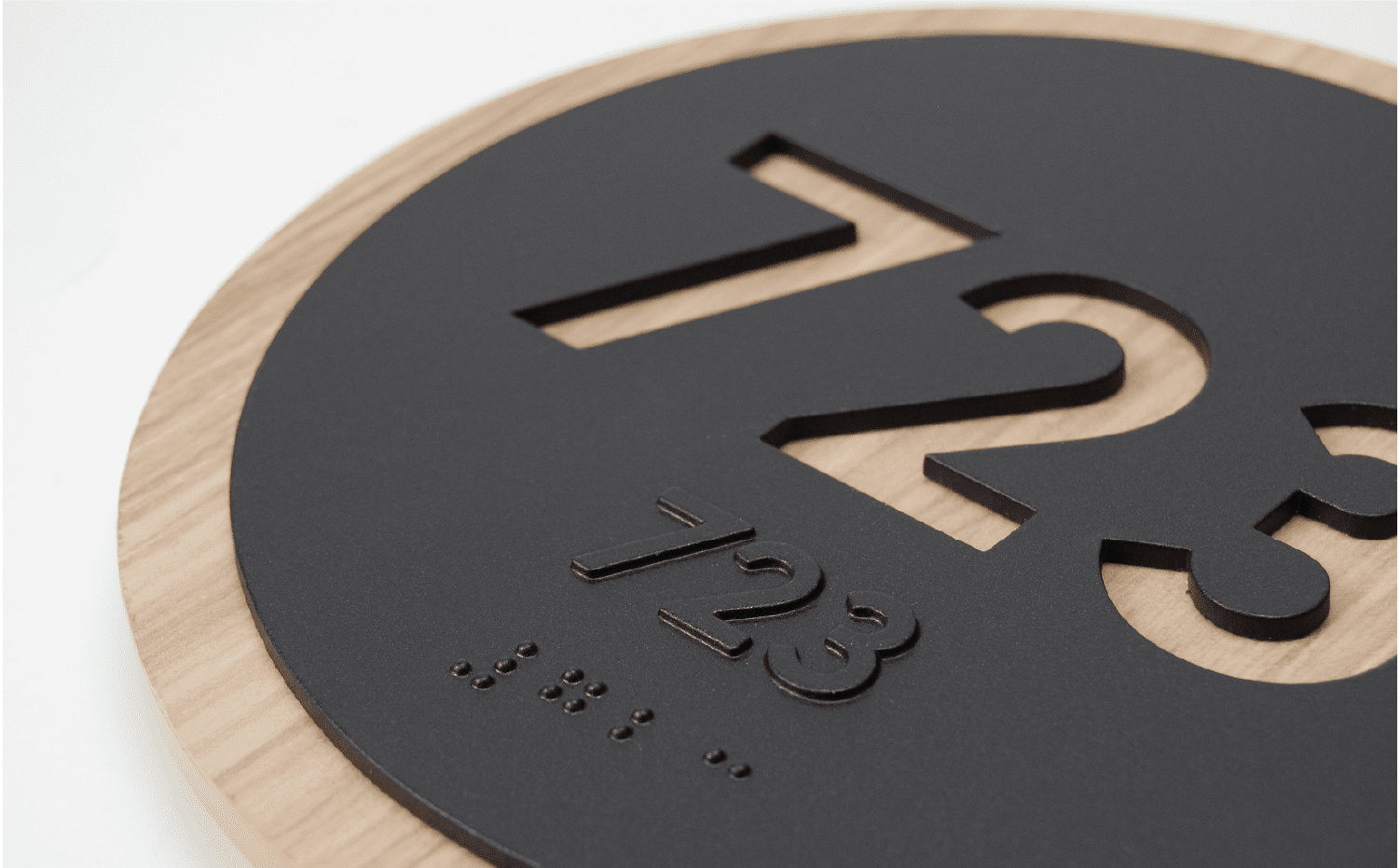 Circle Room Numbers for Hotels to nicely complement Branded Hotel Signs, Wayfinding, ADA Signs, and Hospitality Signs