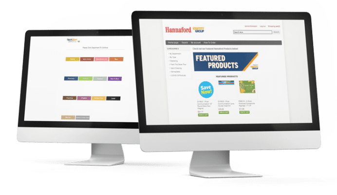 Online sign store for Hannaford retail store