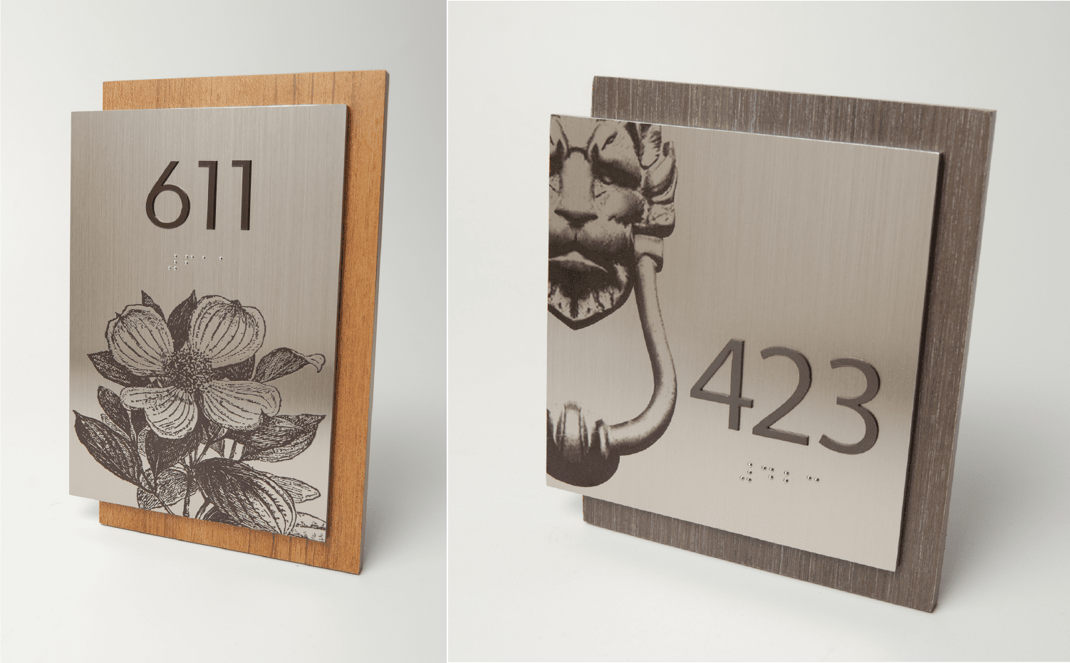 Magnolia Room Numbers for Hotels to nicely complement Branded Hotel Signs, Wayfinding, ADA Signs, and Hospitality Signs