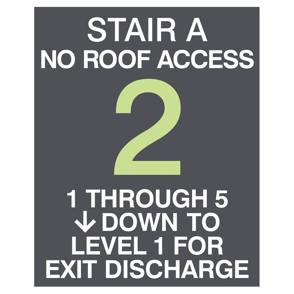 Compliant ADA Signs for No Roof Access and Directional Signage by premier sign company knowledgeable in ADA guidelines