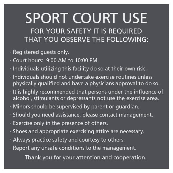 Compliant ADA Signs for Sport Court Use sign and Directional Signage by premier sign company knowledgeable in ADA guidelines