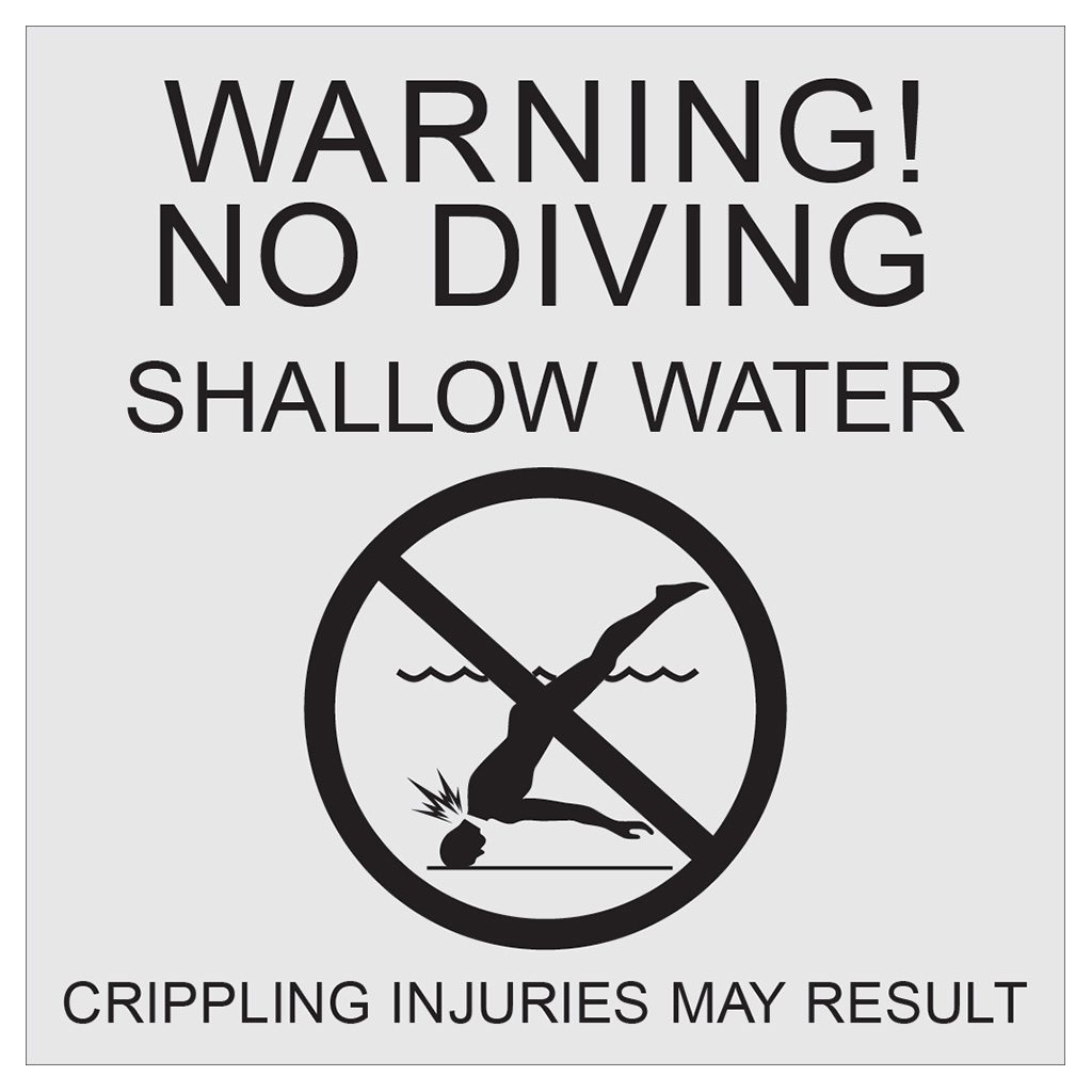 Compliant ADA Signs for No Diving and Safety Signage by premier sign company knowledgeable in ADA guidelines
