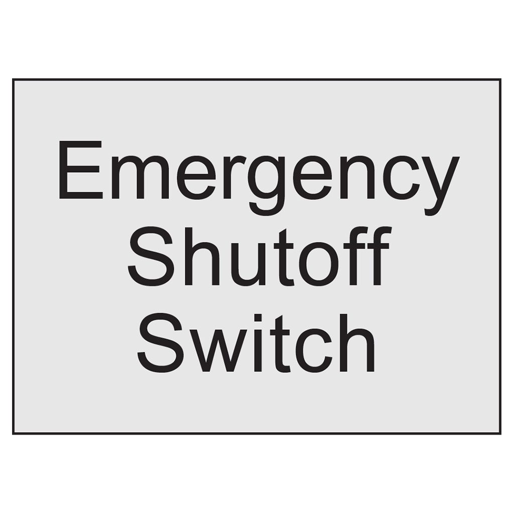Compliant ADA Signs for Emergency Shutoff Switch Signage by premier sign company knowledgeable in ADA guidelines