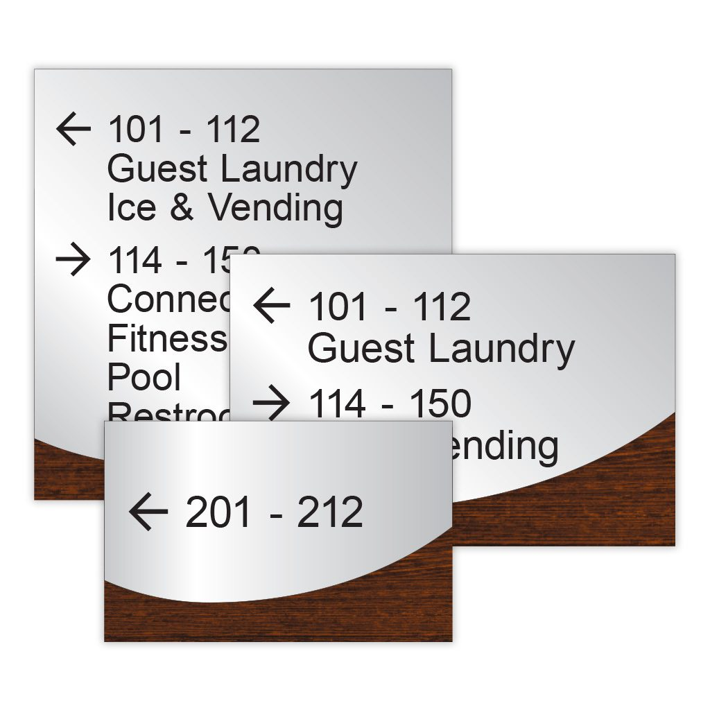 2 tone ADA Signs for Directional Signage by premier sign company knowledgeable in ADA guidelines