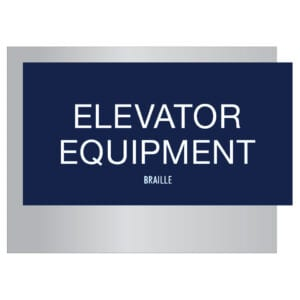 Elevator Equipment Braille Signs for Hotels, Retail Stores, and office to match visual merchandising and visual decor by a premier sign company