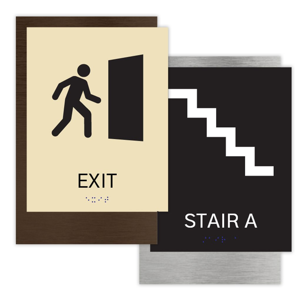 ADA Signs for Exit and Stair Signage by premier sign company knowledgeable in ADA guidelines