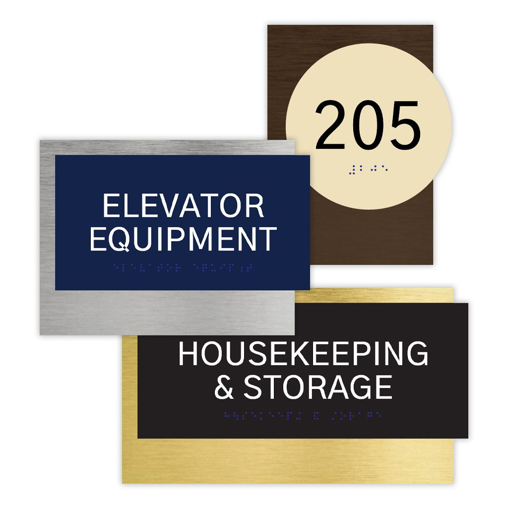 Compliant ADA Signs for Elevator Sign , Room Number Signs, and Directional Signage by premier sign company knowledgeable in ADA guidelines