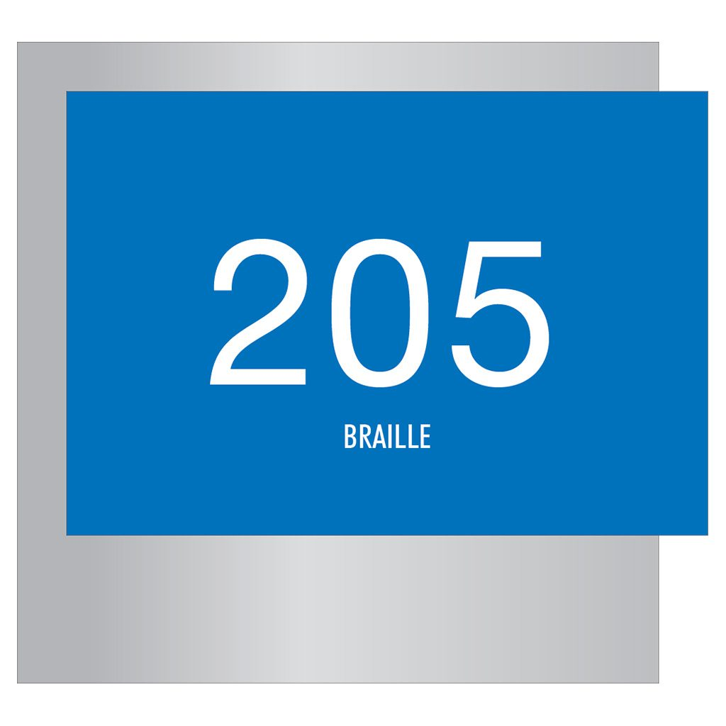 Compliant ADA Signs for Room Number Signage by premier sign company knowledgeable in ADA guidelines