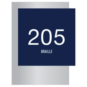 Room Number with Braille Signs for Hotels, Retail Stores, and office to match visual merchandising and visual decor by a premier sign company