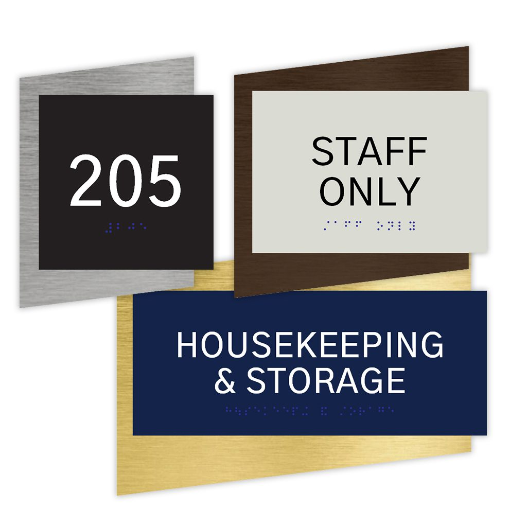Compliant ADA Signs for Staff Only Sign , Room Number Signs, and Directional Signage by premier sign company knowledgeable in ADA guidelines