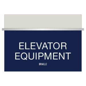 Elevator Equipment Signs with braille for Hotels, Retail Stores, and office to match visual merchandising and visual decor by a premier sign company