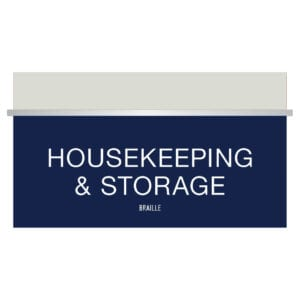 Blue Housekeeping and storage Signs for Hotels, Retail Stores, and office to match visual merchandising and visual decor by a premier sign company