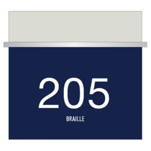 Room numbers for hotels with braille for Hotels, Retail Stores, and office to match visual merchandising and visual decor by a premier sign company