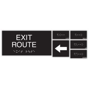 ADA Exit Sign to display the Exit Route