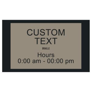 90382-2 Custom Interior signage, ADA Compliant Signs, Hotel Signs, Wayfinding signage