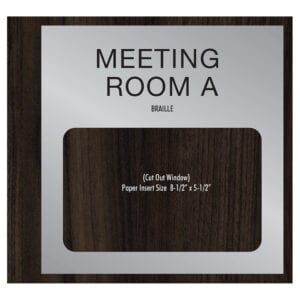 90524-2 Custom Interior Signage, Wayfinding Signage, ADA Compliant Signs, Hospitality Signs, Braille hotel room number signs, by IDG sign manufacturers near me