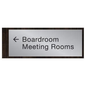 """#90556 Hotel Directional Signage. 16.75""""w x 6.25""""h x 0.5""""d."""