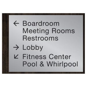 90558-6 Custom Interior Signage, Wayfinding Signage, ADA Compliant Signs, Hospitality Signs, Braille hotel room number signs, by IDG sign manufacturers near me