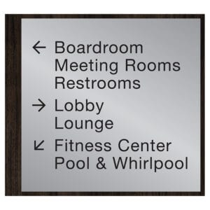 90559-7 Custom Interior Signage, Wayfinding Signage, ADA Compliant Signs, Hospitality Signs, Braille hotel room number signs, by IDG sign manufacturers near me