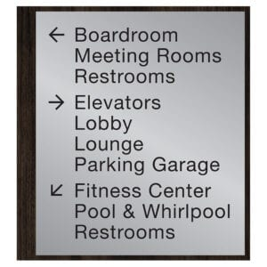 90560-10 Custom Interior Signage, Wayfinding Signage, ADA Compliant Signs, Hospitality Signs, Braille hotel room number signs, by IDG sign manufacturer near me