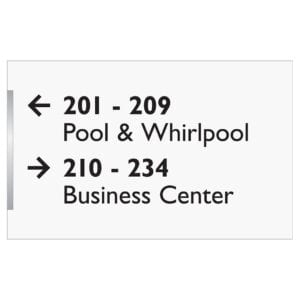 Pool, Whirlpool and Business Center signage - Accessibility signs, ada signs, hospitality signs, and wayfinding signage by IDG