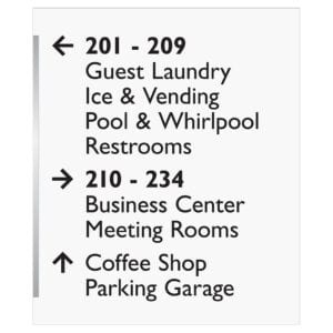 Interior signage - Accessibility signs, ada signs, hospitality signs, and wayfinding signage by IDG