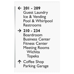 Accessibility signs, ada signs, hospitality signs, and wayfinding signage