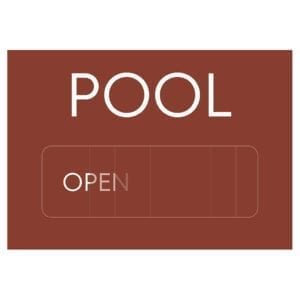91802 Pool Open/Closed - Hotel Brand Signs