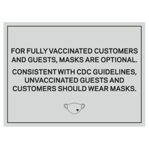 92366WP Grey Covid safety signs: Masks are optional. Hotel Signage Guidelines, Retail Store Signs, and Interior Office Signs.