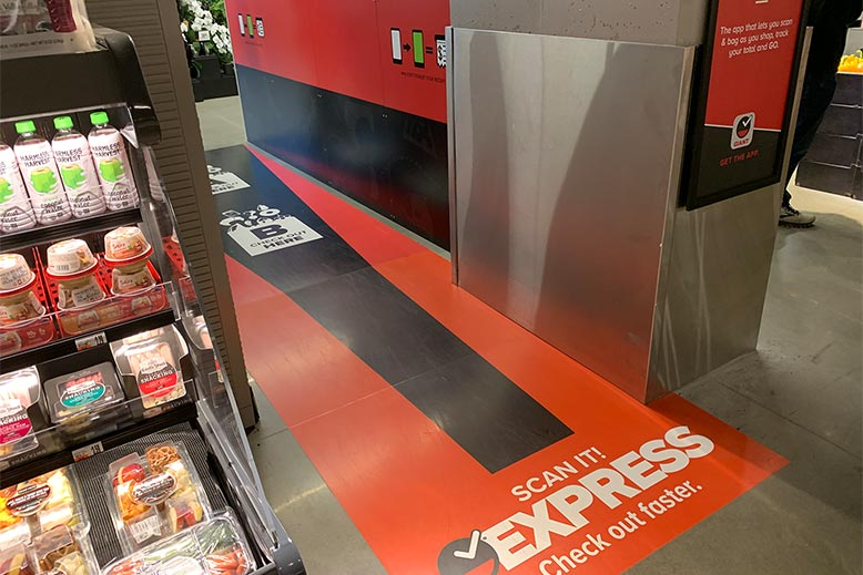 Custom Retail Design Signs for Express check out