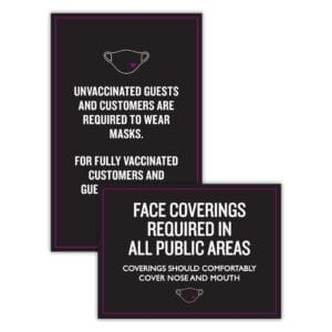 Face Cover Sign