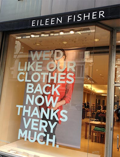 Retail Design & Custom Retail Display Signs for Eileen Fisher Brand